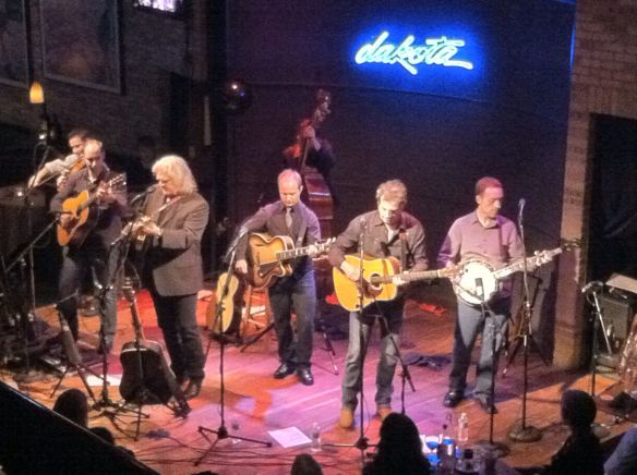 Ricky Skaggs & Kentucky Thunder:  L - R:  Andy Leftwich (fiddle); Cody Kilby (lead guitar); Ricky Skaggs; Eddie Faris (baritone vocals; rhythm guitar); Paul Brewster (tenor vocals; rhythm guitar); Justin Moses (banjo, dobro, background vocals); rear - Scott Mulvahill (upright bass, bass vocals)