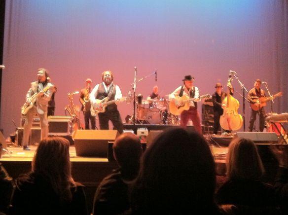 The Mavericks (Jerry Dale McFadden off camera, far right), Pantages Theater, Minneapolis, MN  4/3/13