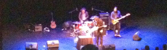 "Apologies for this grainy photo of Rodriguez and band; the only one we took prior to being informed of the artist's ""no photos"" policy"