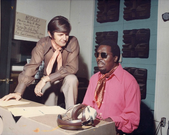 Rick Hall and Clarence Carter at FAME studios