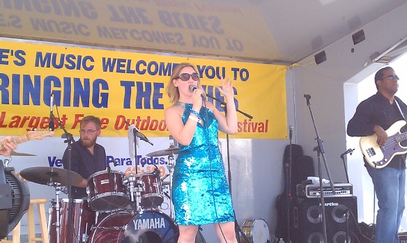 Betty Fox on the Blues Lounge stage Saturday afternoon