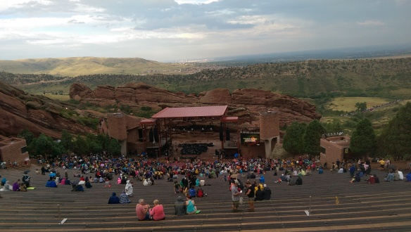 Red Rocks from top